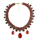 Raindrops Necklace ~ Red Ruby