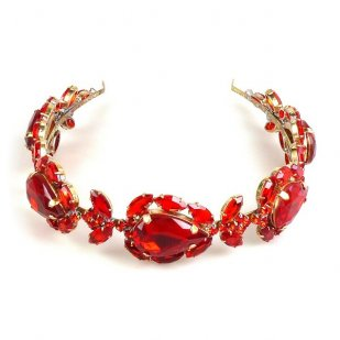 Sonatine Headband Tiara ~ Red