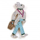 Walking Bunny Easter Brooch Large (1)
