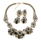 Parisienne Bloom Lite Set with Earrings ~ Night Flower