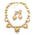 Mythique Set Lite ~ Necklace and Earrings ~ Yellow Jonquil