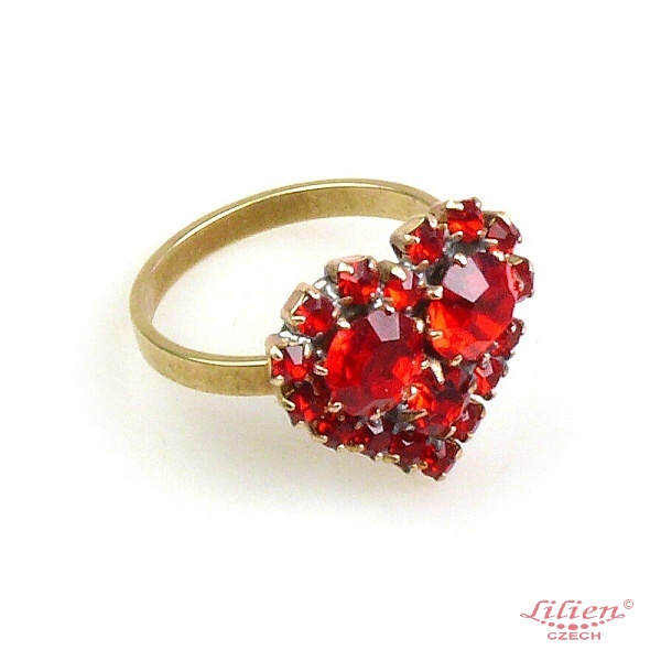 ruby red heart st valentine ring