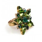 True Love Ring ~ Olive with Emerald