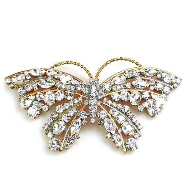 Vanessa Butterfly ~ Clear Crystal : LILIEN CZECH, authentic Czech rhinestone jewelry