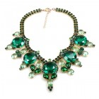 Taj Mahal Necklace ~ Emerald with Green