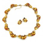 Lite Fountain Necklace with Earrings ~ Topaz