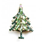 Xmas Tree Brooch #02 ~ Green Emerald