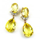 Effervescence Earrings for Pierced Ears ~ Yellow