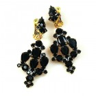 Fatal Kiss Earrings Clips-on ~ Black