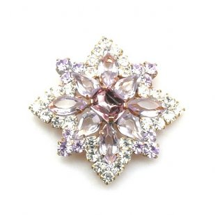 Star Rhinestone Button ~ Crystal Violet