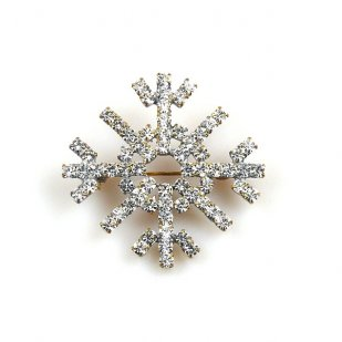 Snowflake Pin ~ Clear Crystal #4 Smaller