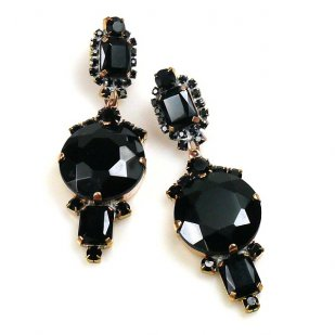 Taj Mahal Earrings Pierced ~ Black