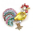 Rooster Brooch ~ Yellow