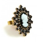 Cameo Ring ~ Black