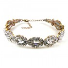 Navette Crystals Choker ~ Clear Crystal