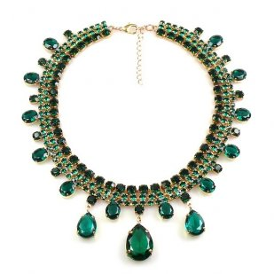 Raindrops Necklace ~ Emerald