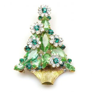 Christmas Flower Pin ~ #1