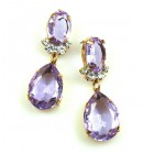 Effervescence Earrings for Pierced Ears ~ Violet