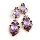 Déjà vu Pierced Earrings ~ Violet Purple