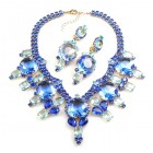 Taj Mahal Necklace Set with Earrings ~ Sapphire Blue
