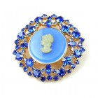 Cameo Classic Brooch ~ Blue