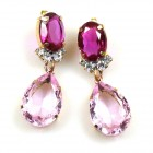 Effervescence Earrings for Pierced Ears ~ Pink Fuchsia