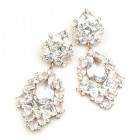 Beaute Earrings Pierced ~ Clear Crystal
