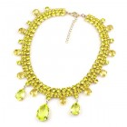 Raindrops Necklace ~ Citrine