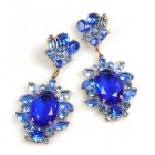 Sweet Temptation Earrings Pierced ~ Blue with Light Sapphire