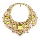 Enchanted Necklace Yellow Pink ~ Extra Big