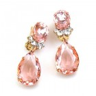 Effervescence Earrings with Clips ~ Pink